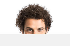 Young Man With Placard Royalty Free Stock Images