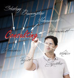 Young man planning consulting activity Royalty Free Stock Photography