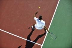 Young man play tennis Royalty Free Stock Photos