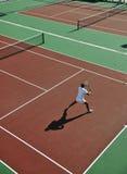 Young man play tennis outdoor Stock Photos