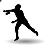 Young man playing badminton Royalty Free Stock Image