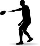 Young man playing badminton Royalty Free Stock Photography