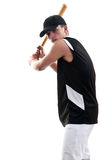 Young man playing baseball Royalty Free Stock Photos