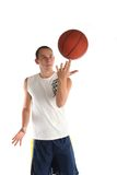 Young man playing basketball Royalty Free Stock Images