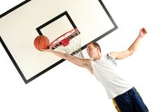 Young man playing basketball Royalty Free Stock Photo