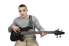 Man whit bass Royalty Free Stock Photos