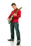 Young man playing the electric guitar Royalty Free Stock Photography