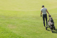Young man playing golf Royalty Free Stock Images