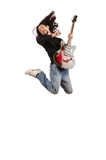 Young man playing guitar Royalty Free Stock Image