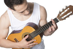 Young Man Playing Guitar Stock Image