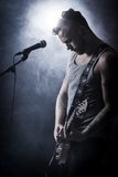 Rocker in Concert Play Guitar Royalty Free Stock Photo