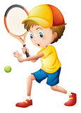 A young man playing tennis Stock Image