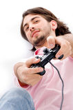 Young man playing video games Royalty Free Stock Image