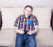 Young man playing royalty free stock photo