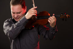 Young Man Playing The Violin Royalty Free Stock Photo