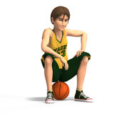 Young man plays basketball Stock Images