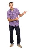 Young man pointing Royalty Free Stock Photo