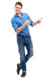 Young man pointing Stock Photos