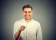 Young man pointing his finger at you Royalty Free Stock Photo