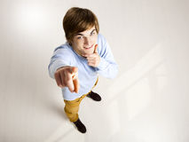 Young man pointing Royalty Free Stock Photography