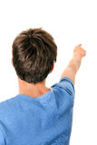 Young Man pointing Stock Photo