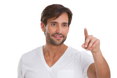 Young man pointing Stock Photos