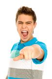 Young man pointing at you Royalty Free Stock Images