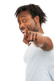 Young man pointing at you Stock Image