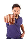 Young man pointing at you. Royalty Free Stock Images