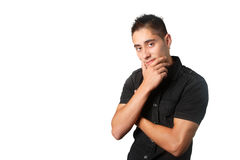 Young man pondering Stock Photography