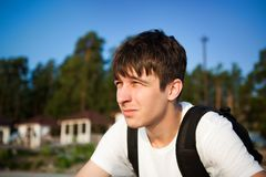 Young Man outdoor Royalty Free Stock Photo