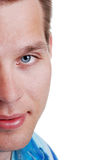 Young Man Portrait Half Face Royalty Free Stock Images