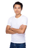 Young man portrait. Isolated on white background Stock Image