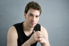 Young man portrait posing looking camera Royalty Free Stock Photography