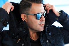 Fashion and stylish man lifestyle stock photography