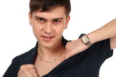 Young man posing. Stock Images