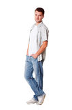 Young man posing at studio Stock Photos