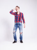 Young man posing in studio Stock Image