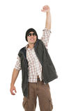 Young man posing wearing sunglasses and vest Royalty Free Stock Images