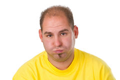 Young man pout Royalty Free Stock Image