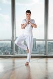 Young Man Practicing Yoga Royalty Free Stock Photo