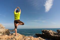 Young man practicing yoga. Royalty Free Stock Photos