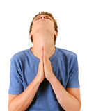 Young Man praying Royalty Free Stock Photos