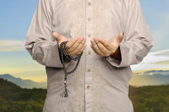 Young Man Praying Stock Image