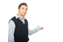 Young man presentation Royalty Free Stock Photos