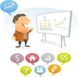 Young Man presentation. With white Board Royalty Free Stock Photo