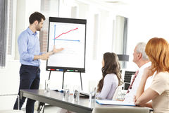 Young man presenting ideas to his business team Stock Image
