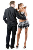 Young man with pretty woman Royalty Free Stock Photography