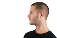 Young Man In Profile Royalty Free Stock Photos