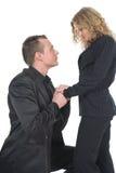 Young man proposing Stock Image